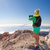hiking woman taking pictures with smart phone stock photo © blasbike