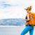 vrouw · wandelaar · rugzak · wandelen · bergen - stockfoto © blasbike