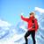 Fotografia · kobieta · wspinaczki · górę · górskich · twarz - zdjęcia stock © blasbike