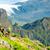 młoda · kobieta · uruchomiony · góry · słoneczny · lata · dzień - zdjęcia stock © blasbike