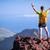 Hiking success, trail runner man in mountains stock photo © blasbike