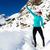 escursioni · successo · donna · inverno · montagna · fitness - foto d'archivio © blasbike