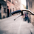 city bicycle handlebar bike over blurred background stock photo © blasbike