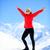 Wandern · Erfolg · Frau · Winter · Berge · Fitness - stock foto © blasbike