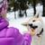 женщину · собака · зима · походов · поездку - Сток-фото © blasbike