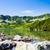 gölet · dağlar · yaz · panorama · yüksek · Bina - stok fotoğraf © blasbike