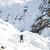 woman hiking in white winter mountains stock photo © blasbike