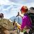 mulher · caminhadas · mochila · córsega · montanhas · França - foto stock © blasbike
