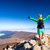 woman climbing success in mountain top stock photo © blasbike