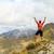 hiking success man runner in mountains stock photo © blasbike