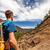 andarilho · montanhas · caminhadas · trilha · corrida · homem - foto stock © blasbike