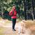 feliz · mulher · caminhadas · vintage · montanhas · cão - foto stock © blasbike
