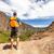 andarilho · corredor · montanhas · caminhadas · trilha · corrida - foto stock © blasbike