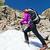 aktív · nő · hegyek · sétál · fedett · gyönyörű - stock fotó © blasbike