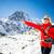 nő · kirándulás · tél · Himalája · hegyek · fiatal · nő - stock fotó © blasbike