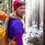 kobieta · turystyka · zimą · lasu · biały - zdjęcia stock © blasbike