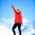 woman success portrait on mountain peak stock photo © blasbike