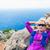 Happy woman runner hiker relaxing stock photo © blasbike