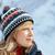красивая · женщина · портрет · зима · улице · лес · женщины - Сток-фото © blasbike