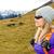 donna · escursioni · montagna · bella · zaino · ricreazione - foto d'archivio © blasbike