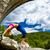 mujer · puente · plantean · encajar - foto stock © blasbike