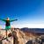 vrouw · klimmen · succes · berg · top · geslaagd - stockfoto © blasbike