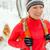 woman hiking in winter with dog stock photo © blasbike