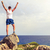 happy climber runner reaching life goal success man stock photo © blasbike