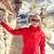 vermelho · tibete · topo · histórico · blue · sky · edifício - foto stock © blasbike