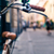 City bicycle handlebar, bike over blurred beautiful bokeh backgr stock photo © blasbike