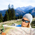 женщину · походов · чтение · карта · лес · турист - Сток-фото © blasbike