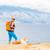 vrouw · wandelen · bergen · lopen · hond · berg - stockfoto © blasbike