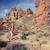 vrouw · parcours · lopen · bergen · rugzak · kruis - stockfoto © blasbike