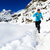 nő · nyom · fut · hó · tél · hegyek - stock fotó © blasbike