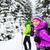 tél · természetjáró · fehér · erdő · trekking · kirándulás - stock fotó © blasbike