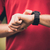runner training and using heart rate monitor smart watch stock photo © blasbike