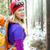 donna · escursioni · inverno · foresta · bianco · retroilluminazione - foto d'archivio © blasbike