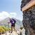 vrouw · wandelen · bergen · jonge · vrouw · wandelaar - stockfoto © blasbike