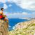 hiking man looking at inspirational view stock photo © blasbike