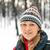 женщину · походов · зима · лес · белый · отдых - Сток-фото © blasbike
