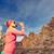 vrouw · parcours · runner · drinken · bergen - stockfoto © blasbike