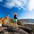 kobieta · turysta · broni · cieszyć · się · góry · piękna - zdjęcia stock © blasbike