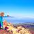 feliz · mulher · caminhadas · ensolarado · montanhas · andarilho - foto stock © blasbike