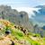 boldog · nő · fut · nyár · hegyek · fiatal - stock fotó © blasbike