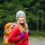mulher · andarilho · mochila · caminhadas · floresta - foto stock © blasbike