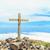 oude · loopgraaf · kruis · landschap - stockfoto © blasbike