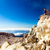 hiking man or trail runner looking at view in mountains stock photo © blasbike