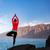 kadın · meditasyon · yoga · ağaç · poz · siluet - stok fotoğraf © blasbike