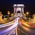 gece · görmek · ünlü · zincir · köprü · Budapeşte - stok fotoğraf © bloodua