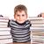 astucieux · écolier · portrait · garçon · transparent · bord - photo stock © bloodua